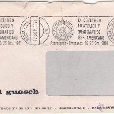 Sellos: PAÑUELOS J.PASCUAL GUASCH. BARCELONA. SOBRE/ VENTANILLA DEL 30-9-81. Lote 52778187