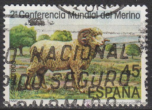 EDIFIL 2839, CARNERO MERINO (II CONFERENCIA MUNDIAL), USADO (Sellos - España - Juan Carlos I - Desde 1.986 a 1.999 - Usados)