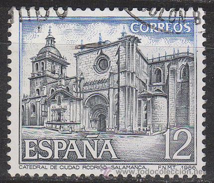 EDIFIL 2836, CATADERAL DE CIUDAD RODRIGO, SALAMANCA, USADO (Sellos - España - Juan Carlos I - Desde 1.986 a 1.999 - Usados)