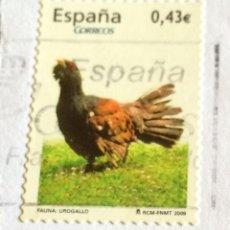 Sellos: SELLO ESPAÑOL USADO. UROGALLO. 0,43 EUROS.. Lote 52897308
