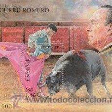 Timbres: ESPAÑA 2001. TOROS. CURRO ROMERO. EDIFIL Nº 3834. ¡¡¡A FACIAL!!!. Lote 210835597