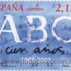 Sellos: ESPAÑA 2003. CENTENARIO DEL DIARIO ABC. EDIFIL Nº 3963. ¡¡¡A FACIAL!!!. Lote 136043816