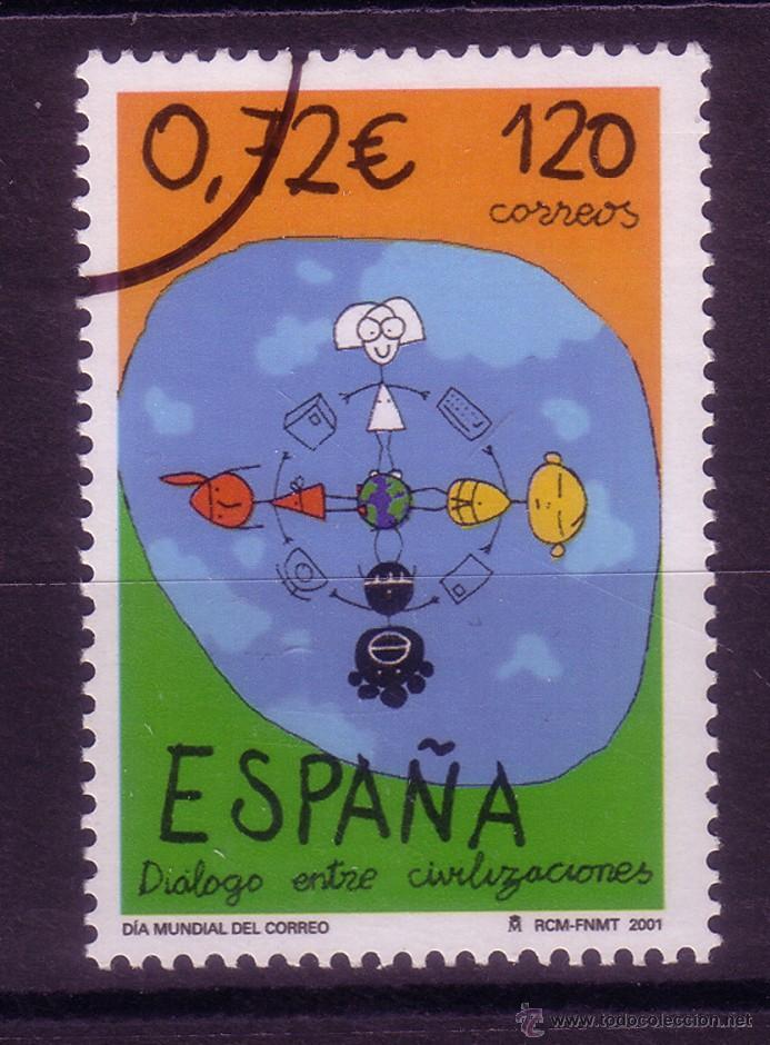 CL8-9-DIA MUNDIAL DEL CORREO 2001. MUESTRA ** SIN FIJASELLOS. LUJO (Sellos - España - Juan Carlos I - Desde 2.000 - Nuevos)