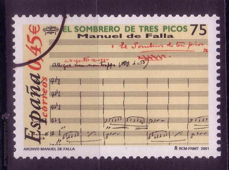 CL8-9-EL SOMBRERO DE TRES PICOS. FALLA. 2001. MUESTRA ** SIN FIJASELLOS. LUJO (Sellos - España - Juan Carlos I - Desde 2.000 - Nuevos)