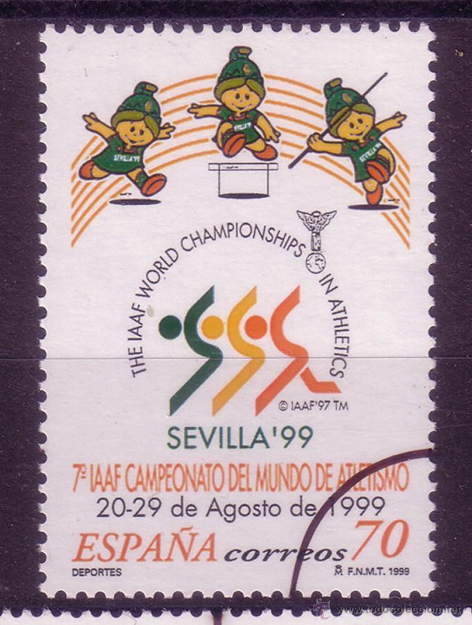 MM42-CAMPEONATO DEL MUNDO ATLETISMO 1999. MUESTRA ** SIN FIJASELLOS. LUJO (Sellos - España - Juan Carlos I - Desde 2.000 - Nuevos)