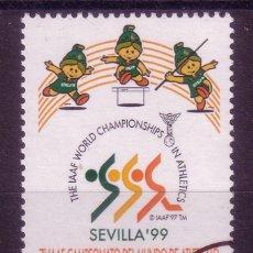 Sellos: CL8-12-CAMPEONATO DEL MUNDO ATLETISMO 1999. MUESTRA ** SIN FIJASELLOS. LUJO. Lote 53080940