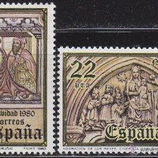 Sellos: EDIFIL 2593/4, NAVIDAD 1980 (LA CORUÑA), NUEVO *** (SERIE COMPLETA). Lote 53224264