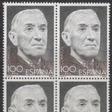 Sellos: EDIFIL 2578, RAMON PEREZ DE AYALA (CENTENARIO), NUEVO *** EN BLOQUE DE 4. Lote 53239167