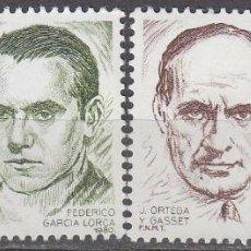 Sellos: EDIFIL 2568/9, EUROPA 1980: ORTEGA Y GASSET Y GARCIA LORCA, NUEVO *** . Lote 53241958