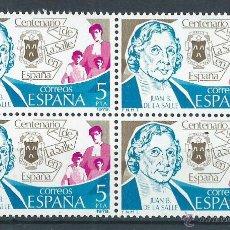 Sellos: R6/ ESPAÑA 1979, EDF. 2511, CENTENARIO DE LA SALLE, NUEVO**. Lote 53322426