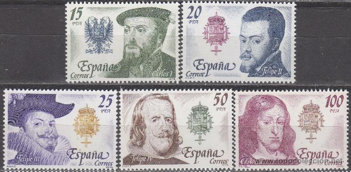 EDIFIL 2552/6, REYES DE ESPAÑA, CASA DE AUSTRIA, NUEVO *** (SERIE COMPLETA) (Sellos - España - Juan Carlos I - Desde 1.975 a 1.985 - Nuevos)