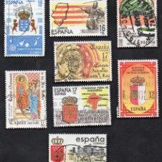 Sellos: AÑO 1984 - EDIFIL 2735 A 2742 - SERIE, ESTATUTOS DE EUTONOMÍA. Lote 53453136