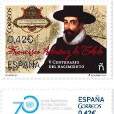 Sellos: AÑO 2015 (5002-5003) EFEMERIDES (NUEVO). Lote 53484327