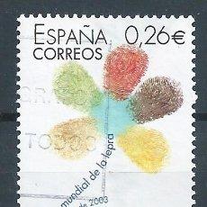 Sellos: R7/ ESPAÑA USADOS 2003, EDF. 3959, 50º DIA MUNDIAL DE LA LEPRA. Lote 53592280