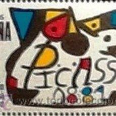 Sellos: SELLO ESPAÑA AÑO 1981 EDIFIL 2609** HOMENAJE A PABLO RUIZ PICASSO. Lote 53603836