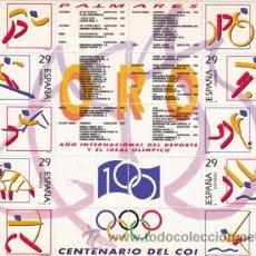 Sellos: EDIFIL 3325/34 DEPORTES (OLIMPICOS DE ORO)-1994. Lote 53619617
