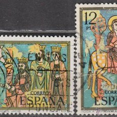 Sellos: EDIFIL 2446/7, NAVIDAD 1977, CATEDRAL DE JACA (HUESCA), USADO (SERIE COMPLETA). Lote 296574603