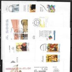 Sellos: ESPAÑA AÑO 2002 EN SOBRES DE PRIMER DÍA (INCOMPLETA). Lote 53759113