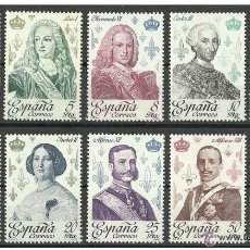Selos: ESPAÑA REYES DE ESPAÑA EDIFIL NUM. 2496/2505 ** SERIE COMPLETA SIN FIJASELLOS. Lote 174444545