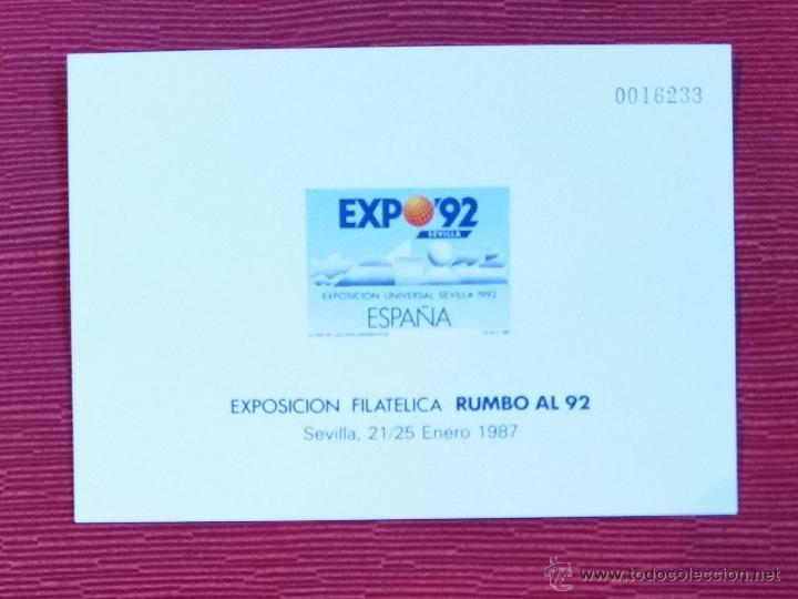 GOM-1199_PRUEBA OFICIAL Nº 11 RUMBO AL 92 (Sellos - España - Juan Carlos I - Desde 1.986 a 1.999 - Nuevos)