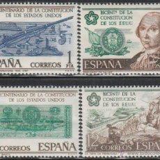 Sellos: EDIFIL 2322/5, BICENTENARIO DE LA INDEPENDENCIA DE LOS ESTADOS UNIDOS, NUEVO *** (SERIE COMPLETA). Lote 54078331