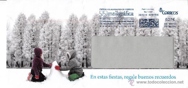 SOBRE COMPLETO. FRANQUEO MECÁNICO AZUL. ENTIDAD COLABORADORA MAILGRÁFICA. 001617510. ES 28053 (Sellos - España - Juan Carlos I - Desde 2.000 - Cartas)