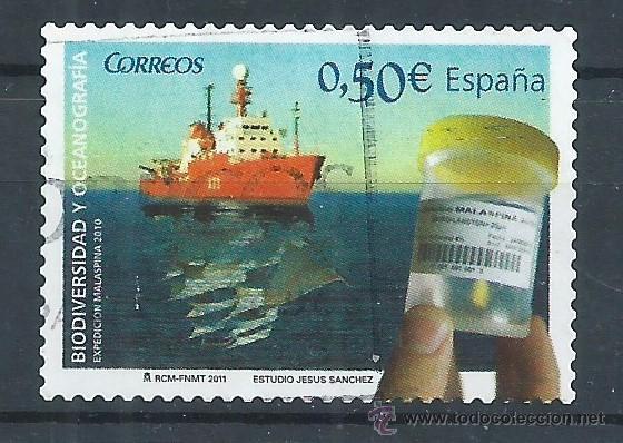 R7/ ESPAÑA USADOS 2011, EDF, 4627, BIODIVERSIDAD Y OCEANOGRAFIA (Sellos - España - Juan Carlos I - Desde 2.000 - Usados)