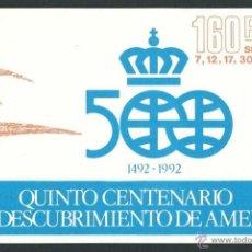 Sellos: ESPAÑA 1986 EDIFIL 2860C** CARNET QUINTO CENTENARIO DESCUBRIMIENTO DE AMERICA. Lote 227877295