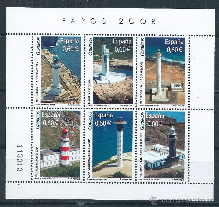 R8/ ESPAÑA EN NUEVO** 2008, EDF, 4430, FAROS (Sellos - España - Juan Carlos I - Desde 2.000 - Nuevos)