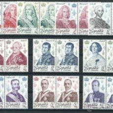 Sellos: ESPAÑA 1978 EDIFIL 2496/2505** REYES DE ESPAÑA EN BLOQUES DE 2. Lote 208119182