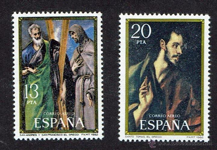 HOMENAJE A EL GRECO. 1982. EDIFIL 2666-2667. ÓXIDO. (Sellos - España - Juan Carlos I - Desde 1.975 a 1.985 - Nuevos)