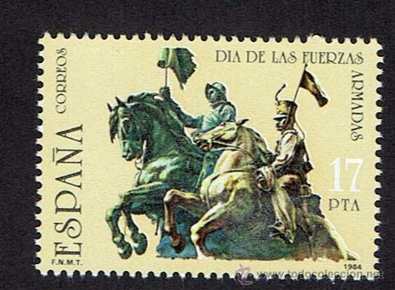 DÍA DE LAS FUERZAS ARMADAS. 1984. EDIFIL 2758. ÓXIDO. (Sellos - España - Juan Carlos I - Desde 1.975 a 1.985 - Nuevos)
