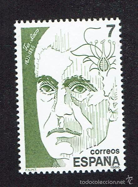 PERSONAJES. 1986. EDIFIL 2853. ÓXIDO. (Sellos - España - Juan Carlos I - Desde 1.986 a 1.999 - Nuevos)