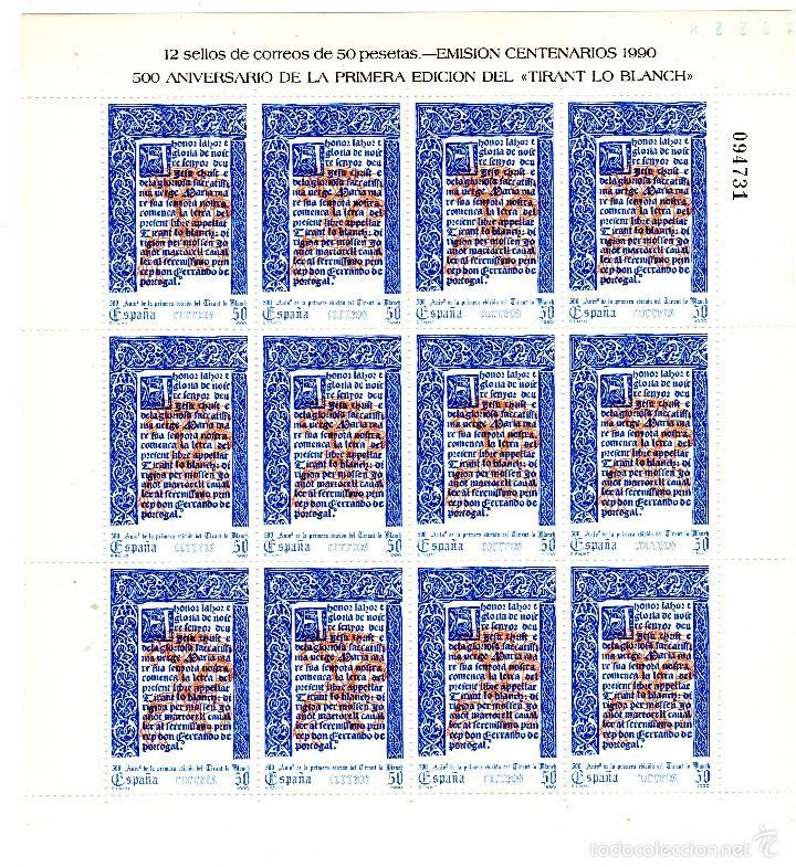 M.P. Nº 16 TIRANT LO BLANCH (Sellos - España - Juan Carlos I - Desde 1.986 a 1.999 - Nuevos)