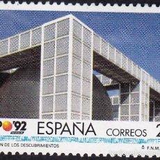 Sellos: EDIFIL 3182 PABELLON DE LOS DESCUBRIMIENTOS/1992. Lote 55394610