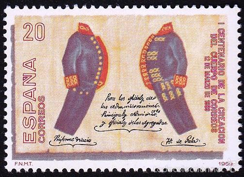 EDIFIL 2998 CENTENARIO CUERPO DE CORREOS/1989 (Sellos - España - Juan Carlos I - Desde 1.986 a 1.999 - Nuevos)