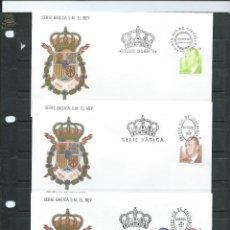 Sellos: SOBRES DE PRIMER DIA DE CIRCULACION DE LA SERIE BASICA DEL REY DEL AÑO 2001 EN TRES SOBRES. Lote 55791441
