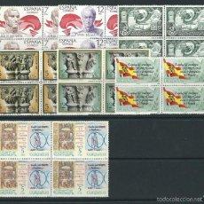 Sellos: ESPAÑA 1978 EDIFIL 2480 2489/90 2491/92 2506 2507 EN BLOQUES DE 4. Lote 55810188