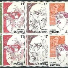 Sellos: ESPAÑA 1986 EDIFIL 2703/04** Y&T 2853/56** PERSONAJES EN BLOQUES DE 4. Lote 56160093