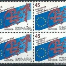 Sellos: ESPAÑA 1989 EDIFIL 3010** PRESIDENCIA ESPAÑOLA DE LA COMUNIDAD EUROPEA EN BLOQUE DE 4. Lote 56173844