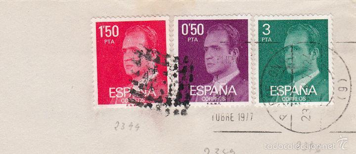 SOBRE COMPLETO, EDIFIL 2344, 2346 Y 2389. ANULACIÓN SUPLENTE MATº ROMBO DE PUNTOS. (Sellos - España - Juan Carlos I - Desde 1.975 a 1.985 - Cartas)