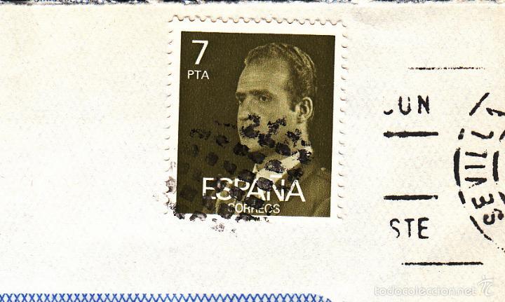 SOBRE COMPLETO, EDIFIL 2348. ANULACIÓN SUPLENTE MATº ROMBO DE PUNTOS. (Sellos - España - Juan Carlos I - Desde 1.975 a 1.985 - Cartas)