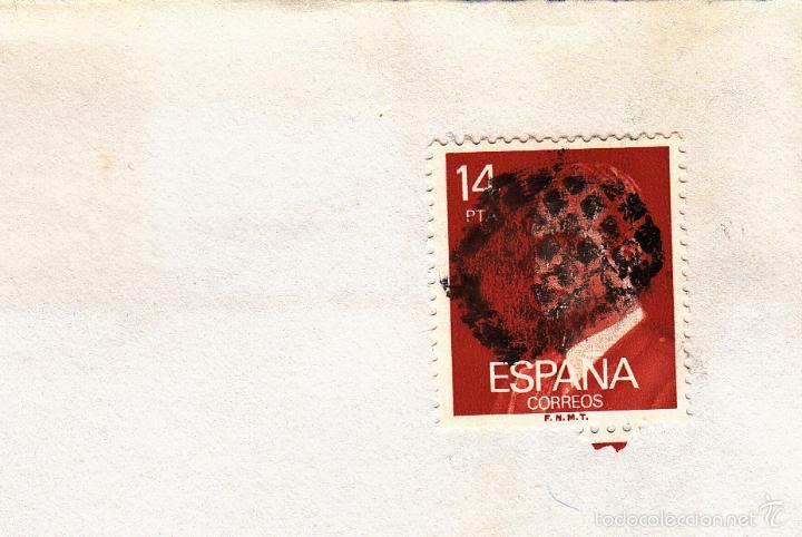 SOBRE COMPLETO, EDIFIL 2650. ANULACIÓN SUPLENTE MATº ROMBO DE PUNTOS. (Sellos - España - Juan Carlos I - Desde 1.975 a 1.985 - Cartas)
