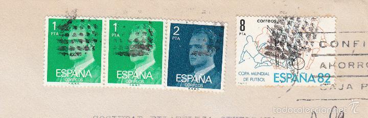 SOBRE COMPLETO, EDIFIL 2390(2), 2345 Y 2570. ANULACIÓN SUPLENTE MATº ROMBO DE PUNTOS. (Sellos - España - Juan Carlos I - Desde 1.975 a 1.985 - Cartas)