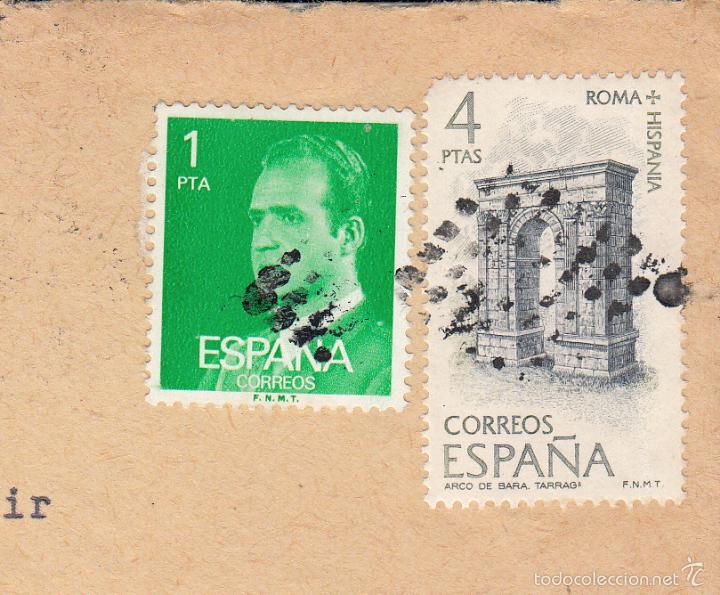 SOBRE COMPLETO, EDIFIL 2390 Y 2187. ANULACIÓN SUPLENTE MATº ROMBO DE PUNTOS. (Sellos - España - Juan Carlos I - Desde 1.975 a 1.985 - Cartas)