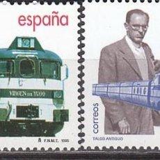 Sellos: EDIFIL 3347, TREN TALGO, CENTENARIO DE SU INVENTOR ALEJANDRO GOICOECHEA, NUEVO ***. Lote 143987158