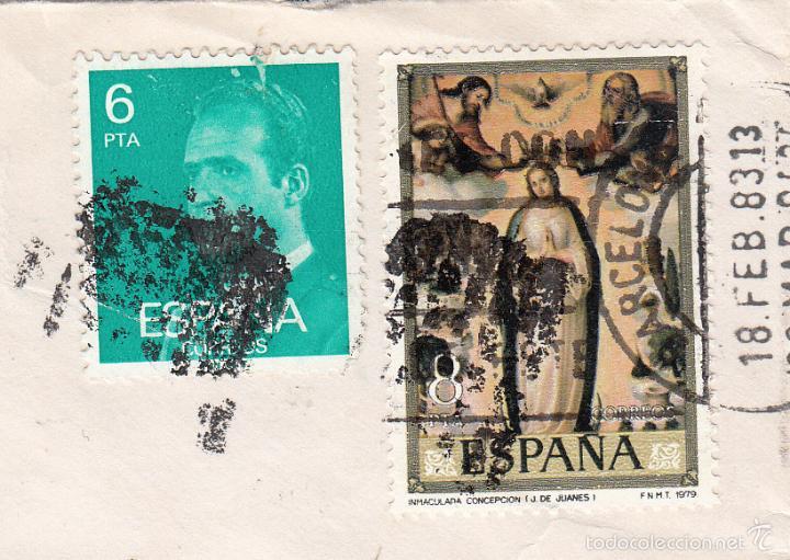 SOBRE COMPLETO, EDIFIL 2392 Y 2537. ANULACIÓN SUPLENTE MATº ROMBO DE PUNTOS. (Sellos - España - Juan Carlos I - Desde 1.975 a 1.985 - Cartas)