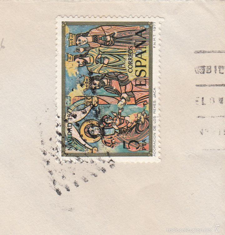 SOBRE COMPLETO, EDIFIL 2446. ANULACIÓN SUPLENTE MATº ROMBO DE PUNTOS. (Sellos - España - Juan Carlos I - Desde 1.975 a 1.985 - Cartas)