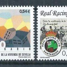 Sellos: R9/ ESPAÑA EN NUEVO** 2014, EDF. 4853/54, CENTENARIOS. Lote 56519175