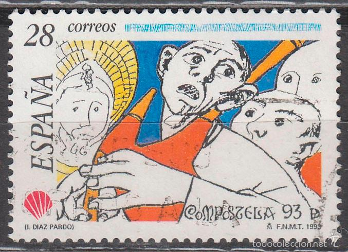 EDIFIL 3256, COMPOSTELA'93, USADO, USADO (Sellos - España - Juan Carlos I - Desde 1.986 a 1.999 - Usados)